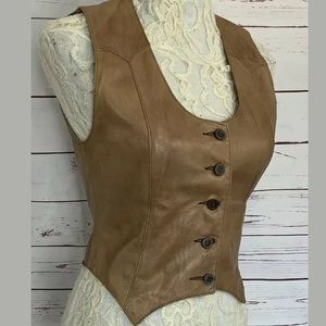 Lady Sully Buttery Soft Fitted Leather Vest